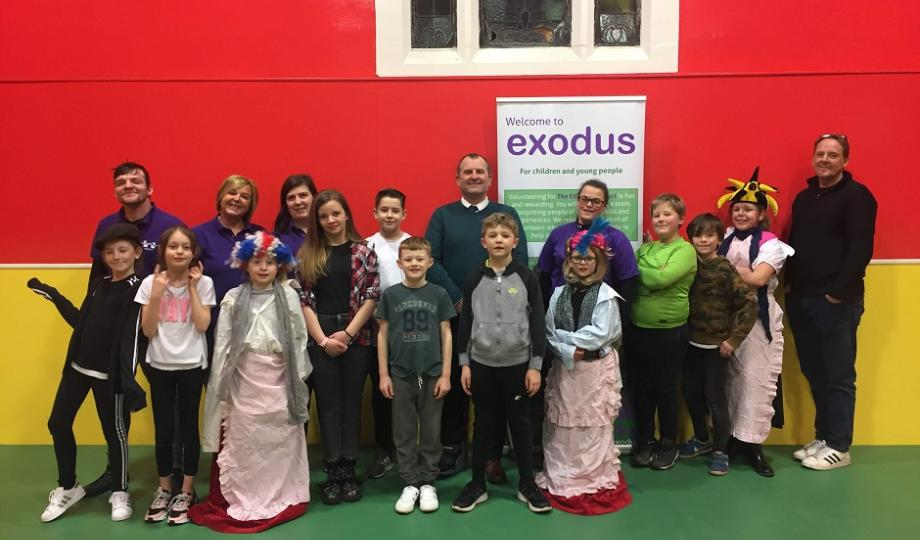 Mark Miller visiting the Exodus project
