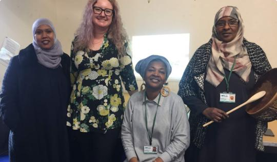Angela Greenwood on visit to Maan Somali